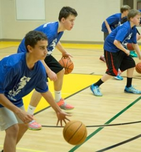 image of a Guard Clinic one of the camps held by GTA Training Toronto's premier basketball training academy